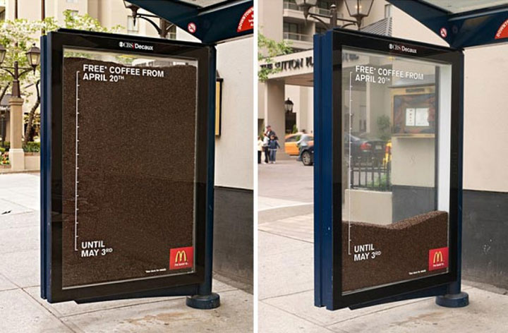 Chilled Coffee-most creative advertisements ever used by McDonald's in the world-6
