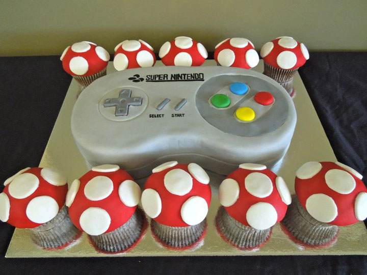 Super Nintendo Cake-Original Cake Designs For The Passionate Of Geek Culture -11