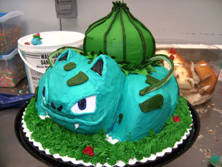 Bulbasaur in Pokemon-Original Cake Designs For The Passionate Of Geek Culture -13