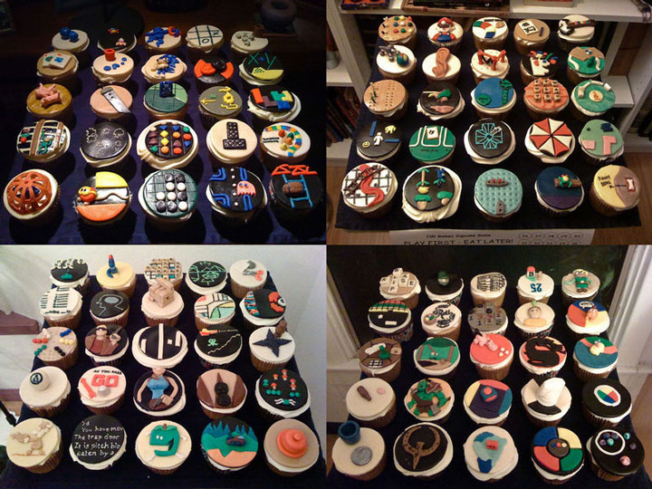 mixed geek cupcake-Original Cake Designs For The Passionate Of Geek Culture -26