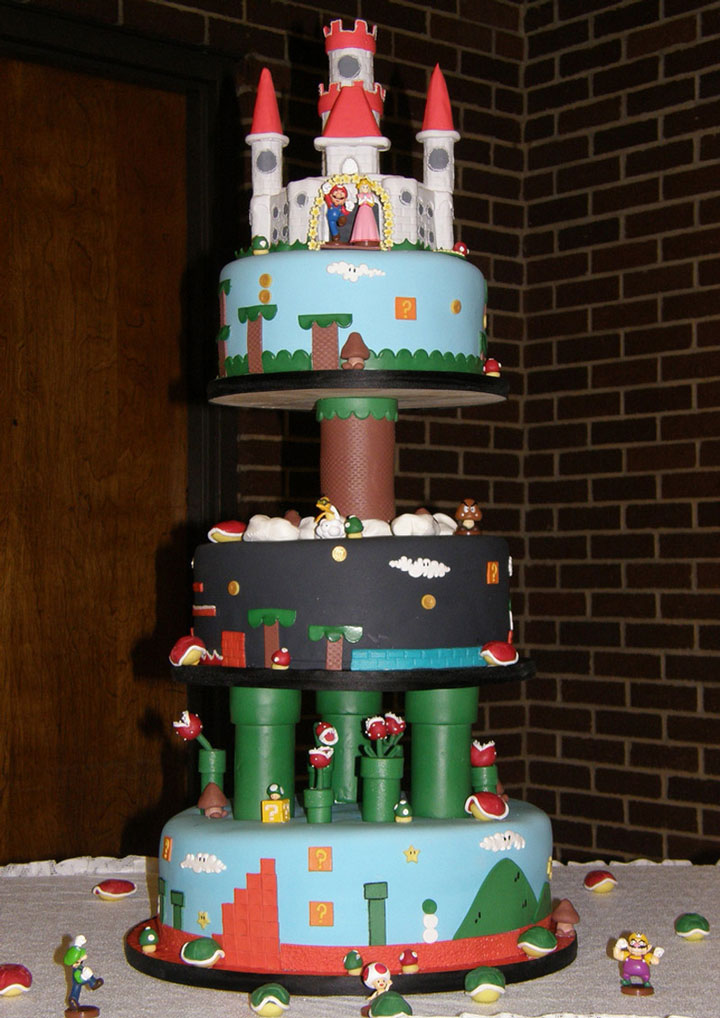 The Super Mario cake-Original Cake Designs For The Passionate Of Geek Culture -8