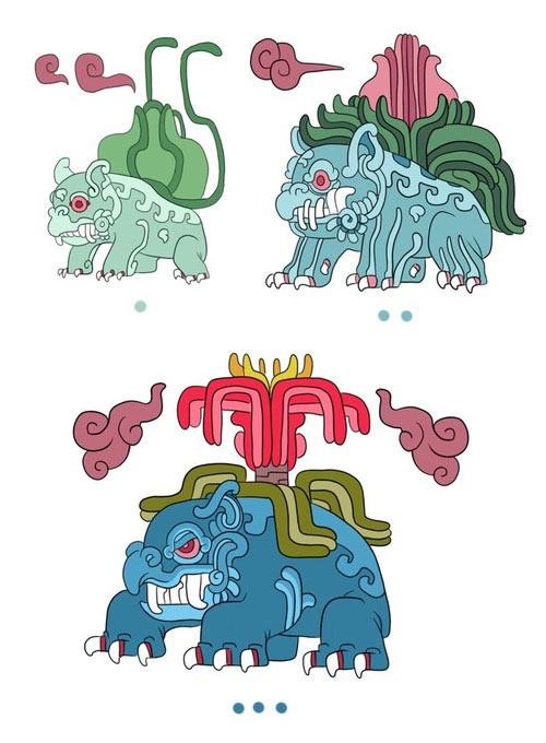Bulbasaur, Ivysaur and Venusaur-Pokemayans: How Maya Would Have Revered Pokemon In their Temples?