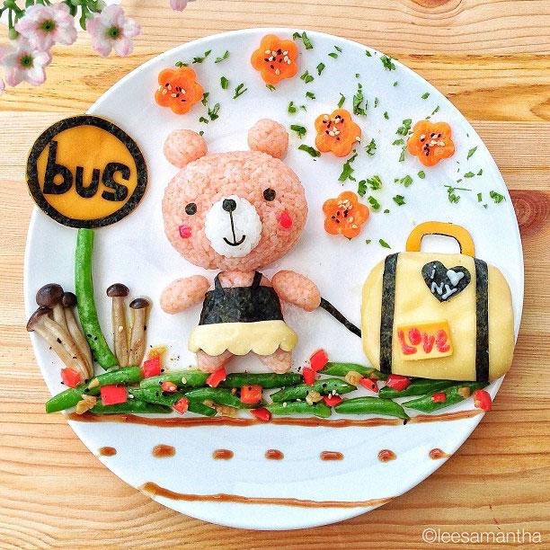 Samantha Transforms Her Foods Dishes Into Impressive Artworks