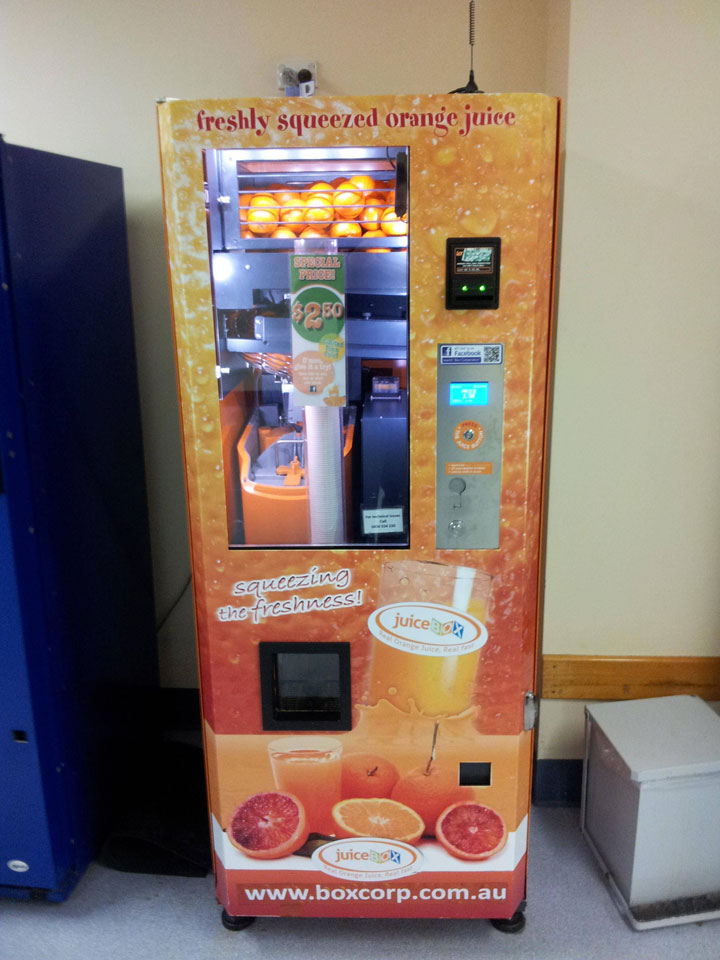 Strange Vending Machines -13-Vending machine of orange juice