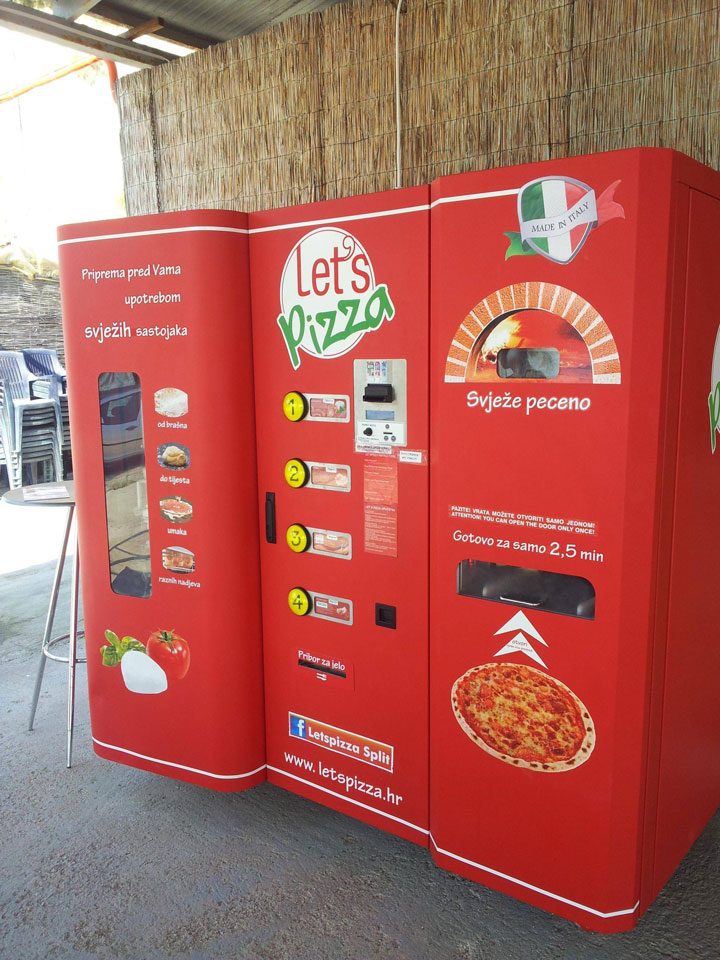 Strange Vending Machines -9-MAXI Pizza distributor