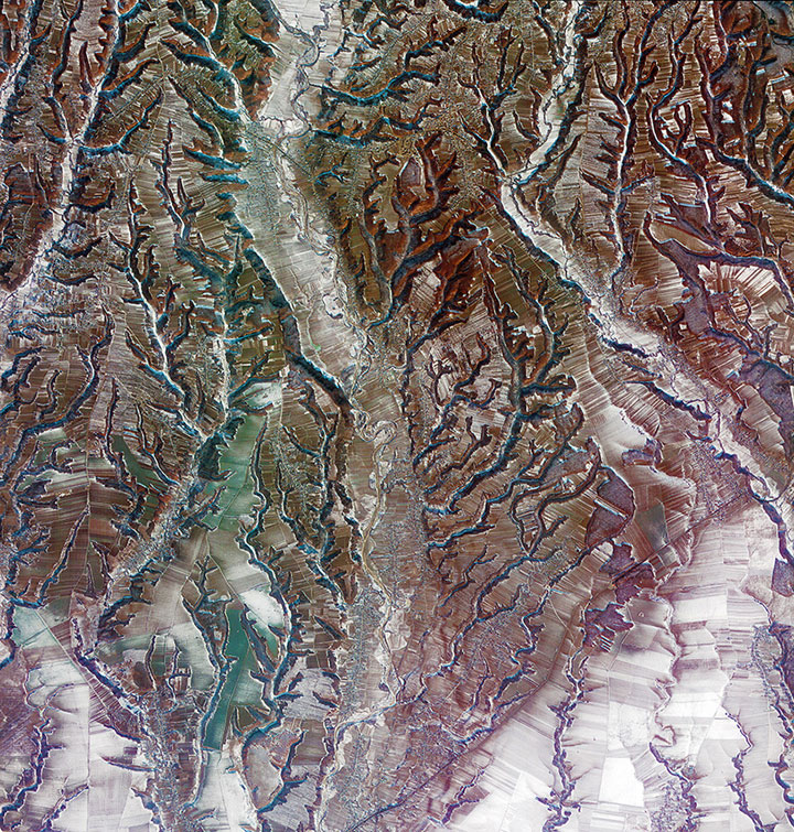 The south-central Romania-Striking-Landscapes-of-Earth-from-space-as-artworks-113