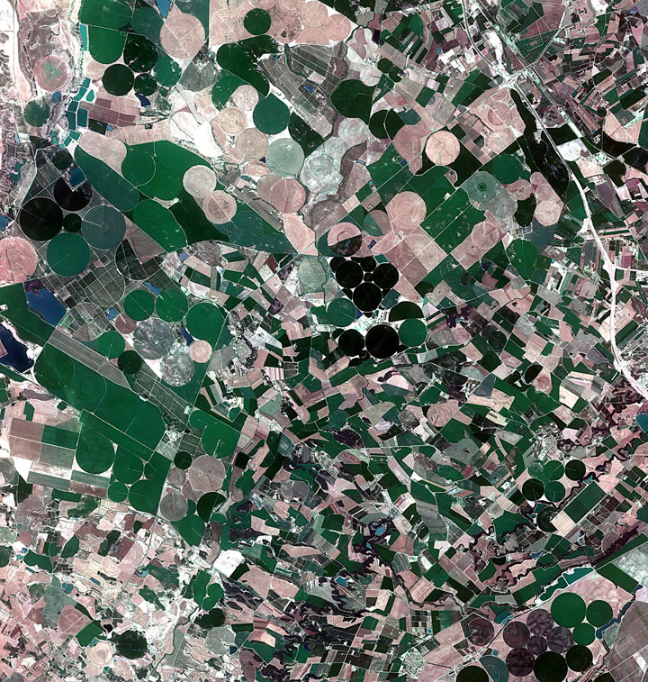 Agricultural fields in Catalonia-Striking-Landscapes-of-Earth-from-space-as-artworks-116