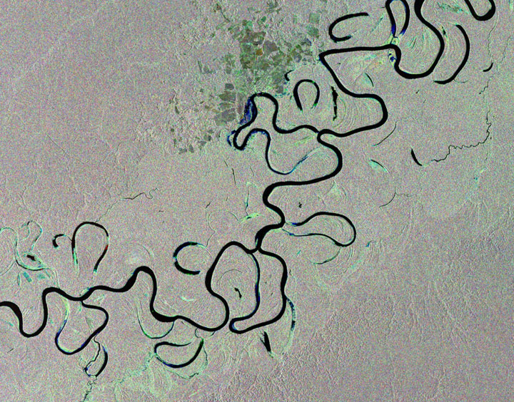 The Amazon rainforest of Brazil-Striking-Landscapes-of-Earth-from-space-as-artworks-13