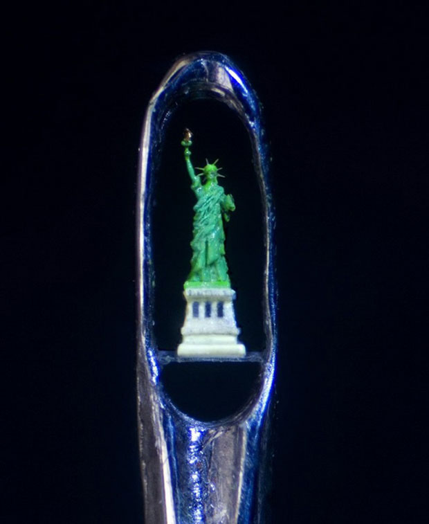An Artist Creates Amazing Miniature Sculptures Of The Size Of A Sewing Needle Pinhead-9