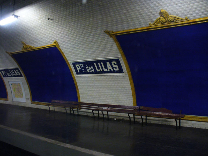 The station Porte des Lilas - Cinema -Visit The Amazing Abandoned Ghost Metro Stations Of Paris-19