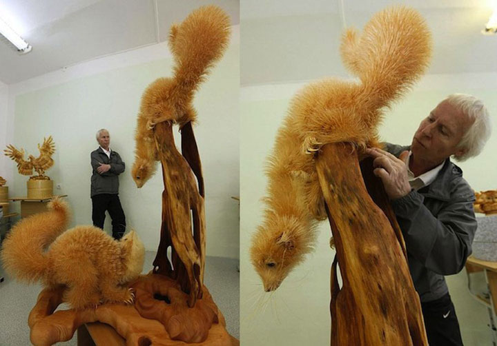 Amazing Lifelike Wooden Sculptures Made By russian sergei-18