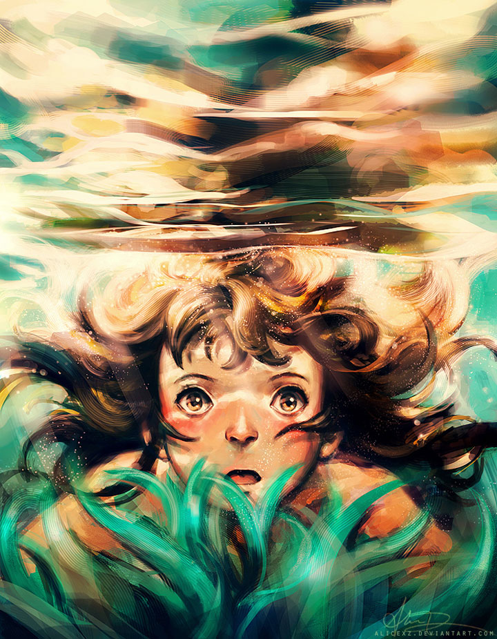 Spirited Away-Alice X. Zhang Beautiful Paintings Of The Scenes From Famous Cult Films-1