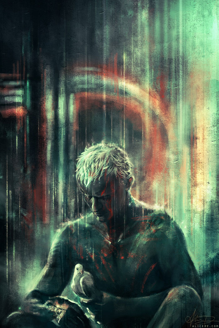 Blade Runner-Alice X. Zhang Beautiful Paintings Of The Scenes From Famous Cult Films-11