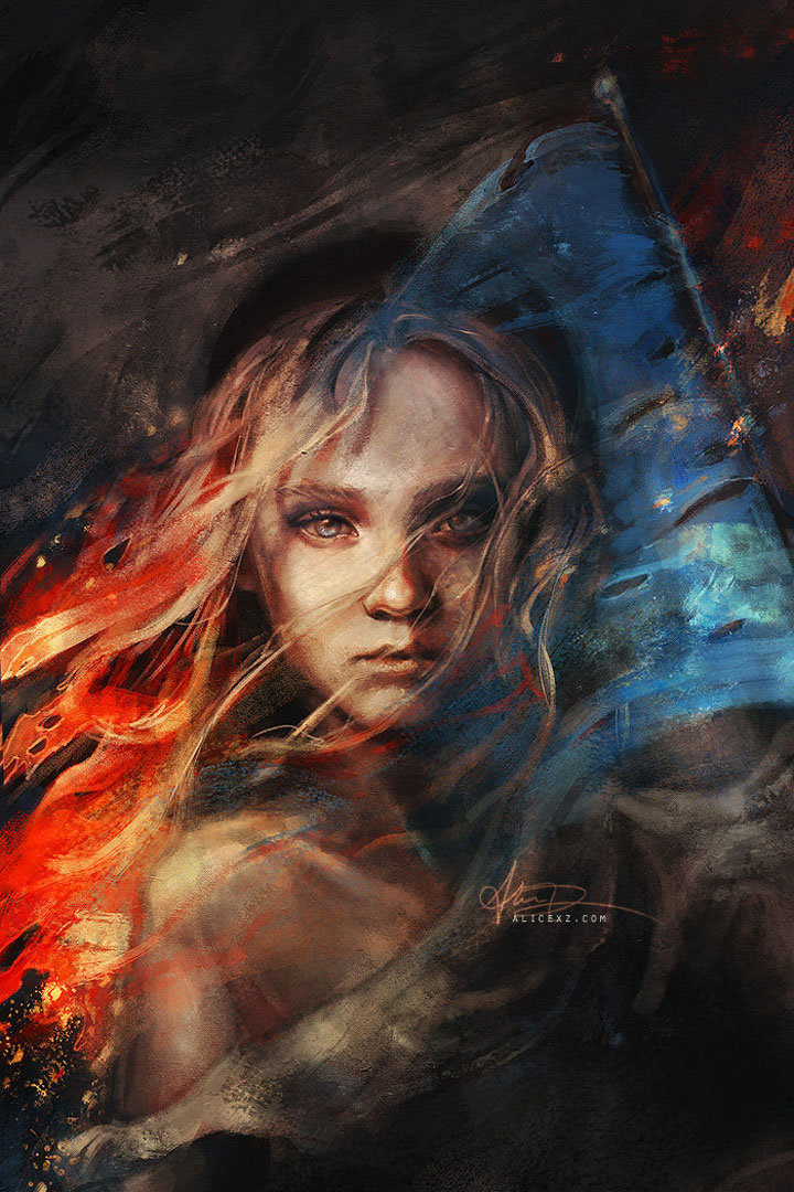Les Misérables-Alice X. Zhang Beautiful Paintings Of The Scenes From Famous Cult Films-2