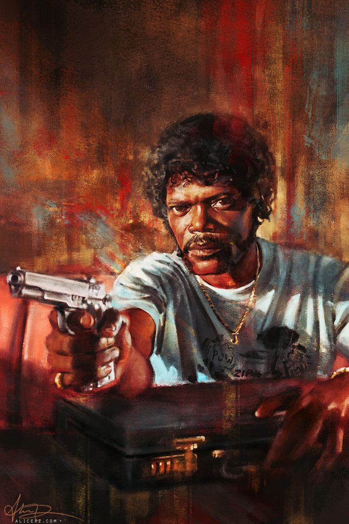 Pulp Fiction-Alice X. Zhang Beautiful Paintings Of The Scenes From Famous Cult Films-4