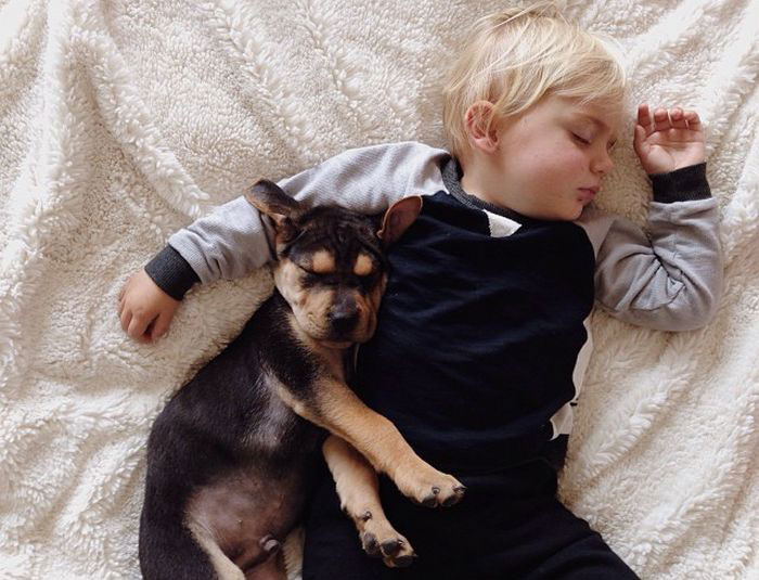 Jessica A stunning Series Of Photograph Immortalizes The Friendship Between A Baby And A Puppy-11