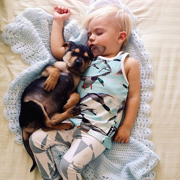 Jessica A stunning Series Of Photograph Immortalizes The Friendship Between A Baby And A Puppy-15