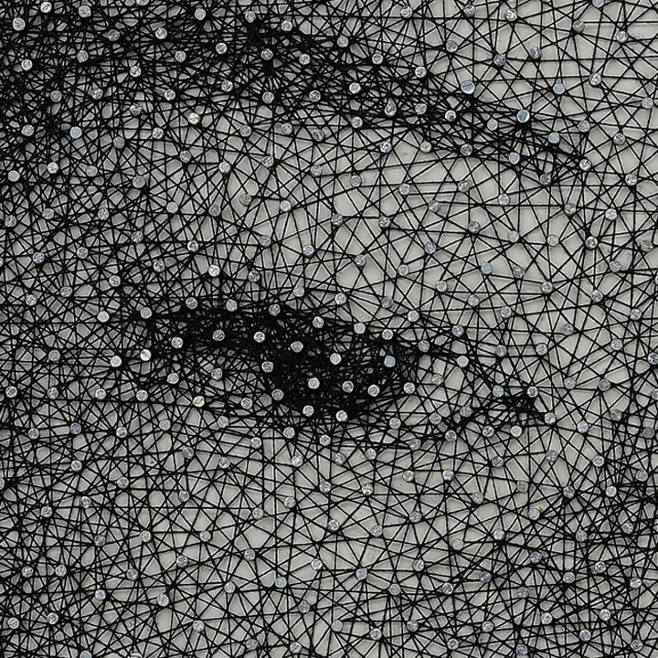 Kumi Makes Beautiful Portraits Made From Nails And A Single Piece Of String-