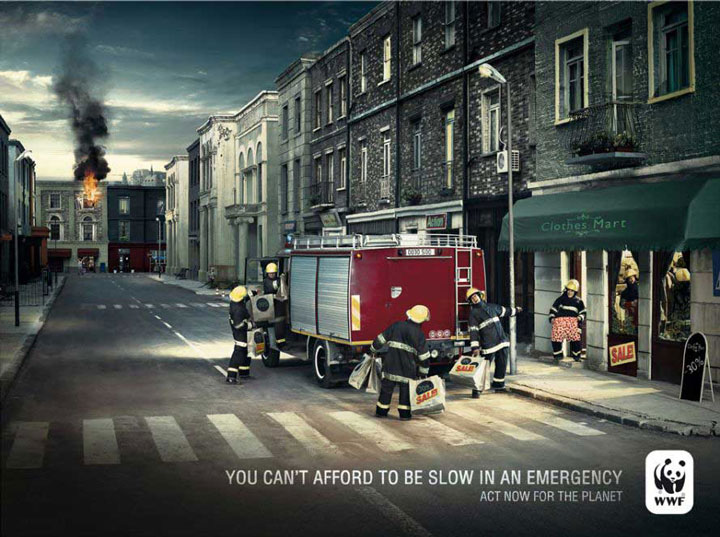 You Cannot Afford To Be Slow In Emergency-20 Most Striking WWF Posters That Will Motivate You To Fight For The Planet-1
