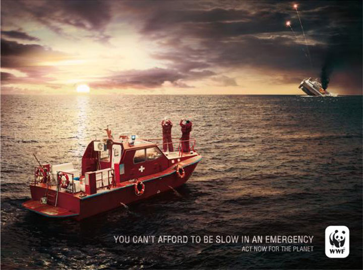 You Cannot Afford To Be Slow In Emergency-20 Most Striking WWF Posters That Will Motivate You To Fight For The Planet-2