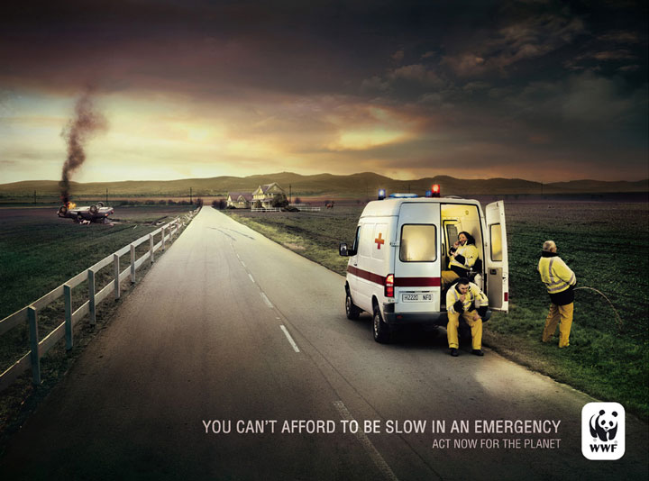 You Cannot Afford To Be Slow In Emergency-20 Most Striking WWF Posters That Will Motivate You To Fight For The Planet-3