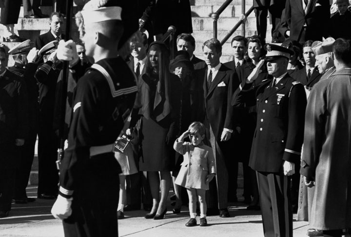 28. John F. Kennedy Jr. salutes his father's coffin during an honor guard-Most Touching Photographs-26
