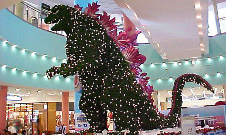 Godzilla Christmas tree-Most Wacky And Non-Traditional Christmas Trees -