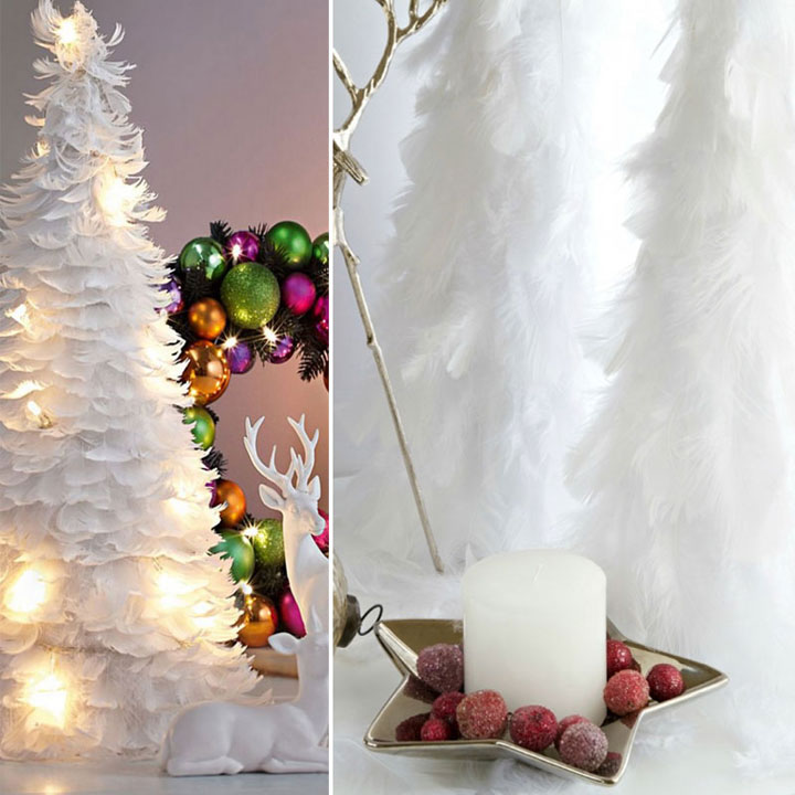 Feather Christmas tree-Most Wacky And Non-Traditional Christmas Trees -17