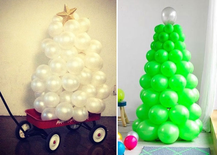 Balls Christmas tree-Most Wacky And Non-Traditional Christmas Trees -18