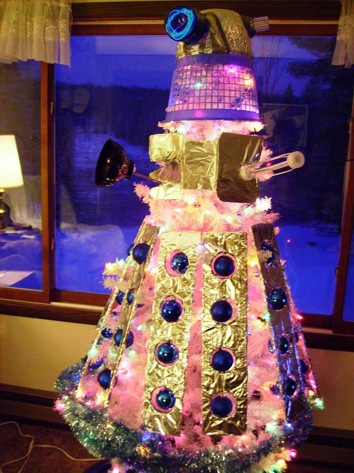 Dalek (vicious aliens from Doctor Who series) -Most Wacky And Non-Traditional Christmas Trees -4