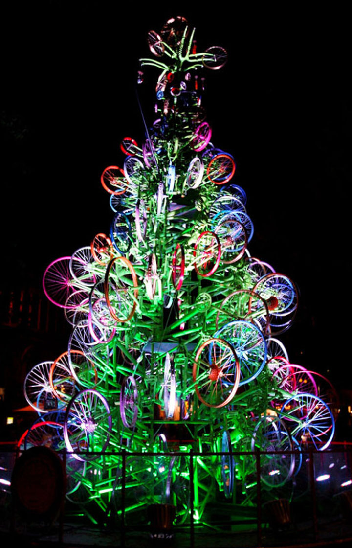 Cycling Christmas tree-Most Wacky And Non-Traditional Christmas Trees -6