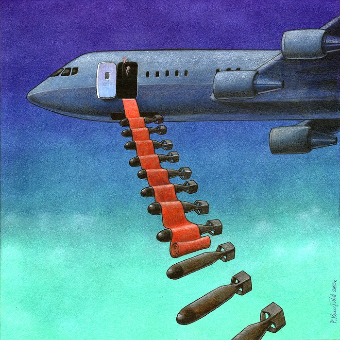 Pawel Kuczynksi satirical illustrations denounce the horrors and paradoxes of the modern world-13