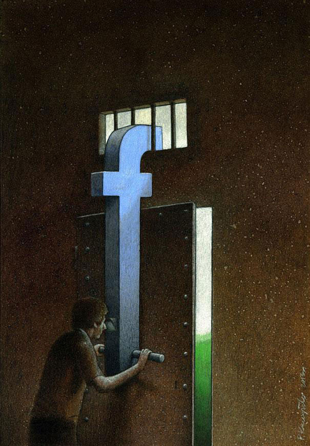 Pawel Kuczynksi satirical illustrations denounce the horrors and paradoxes of the modern world-19