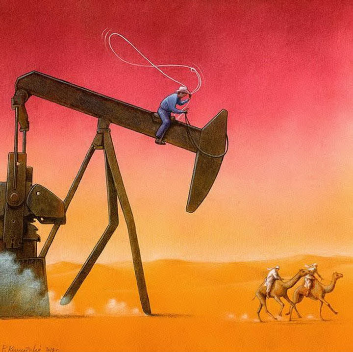 Pawel Kuczynksi satirical illustrations denounce the horrors and paradoxes of the modern world-4