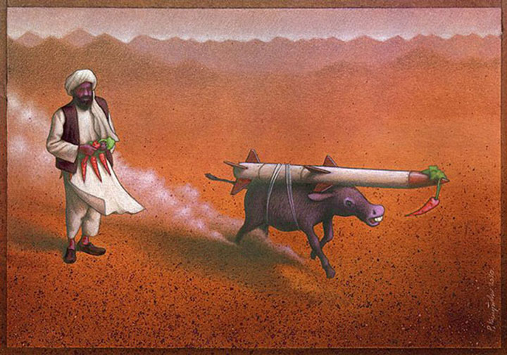 Pawel Kuczynksi satirical illustrations denounce the horrors and paradoxes of the modern world-5