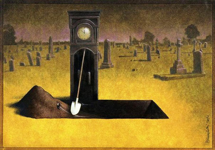 Pawel Kuczynksi satirical illustrations denounce the horrors and paradoxes of the modern world-6