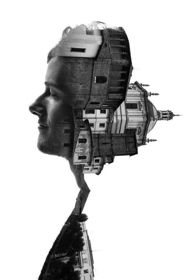 Striking Portraits Merging Faces With Milanese Architecture (Photo Gallery)-1