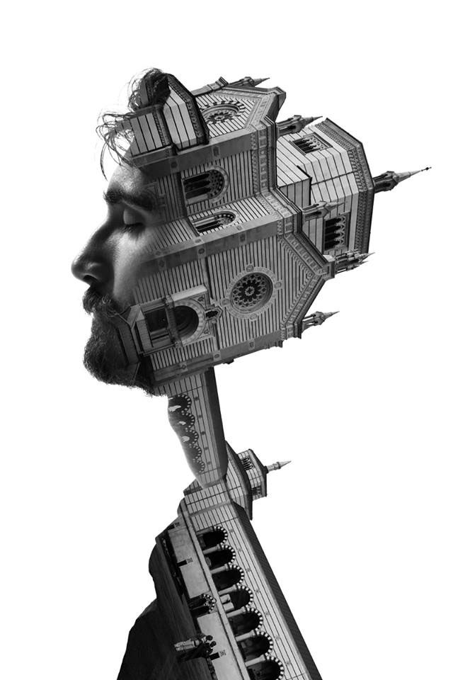 Striking Portraits Merging Faces With Milanese Architecture (Photo Gallery)-6