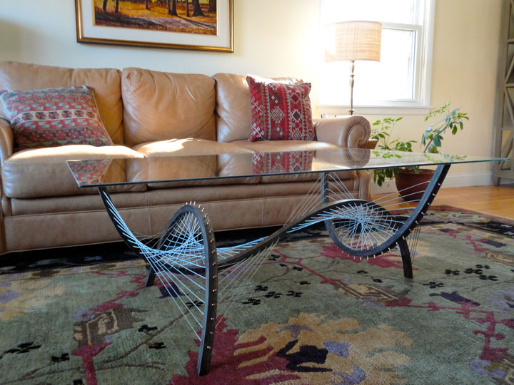 Amazing Furniture Held Together Only By The Tensioned Cables-2