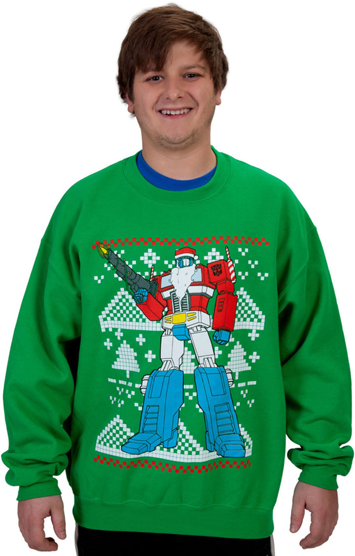 The tank Tranformers-Super Geek Sweaters For Winter Holidays-2