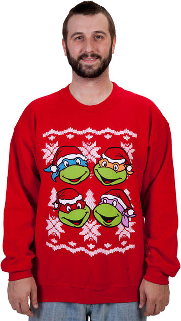 The Ninja Turtles hoodies-Super Geek Sweaters For Winter Holidays-5