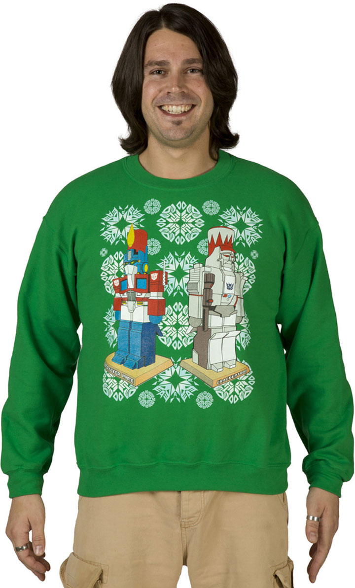 The tank Tranformers-Super Geek Sweaters For Winter Holidays-7