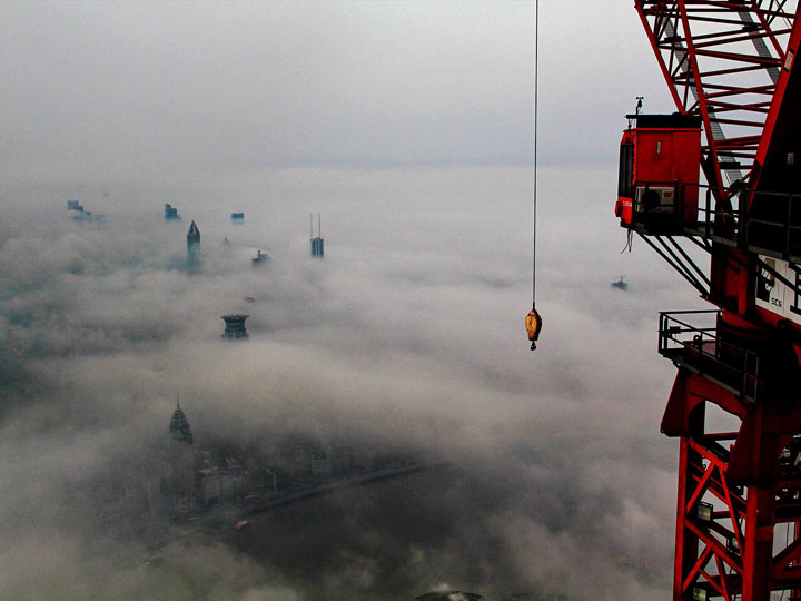 The Beauty Of Shanghai Revealed From A Crane At Height Of 600 Meters-1