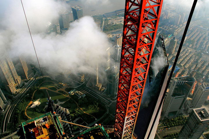The Beauty Of Shanghai Revealed From A Crane At Height Of 600 Meters-2