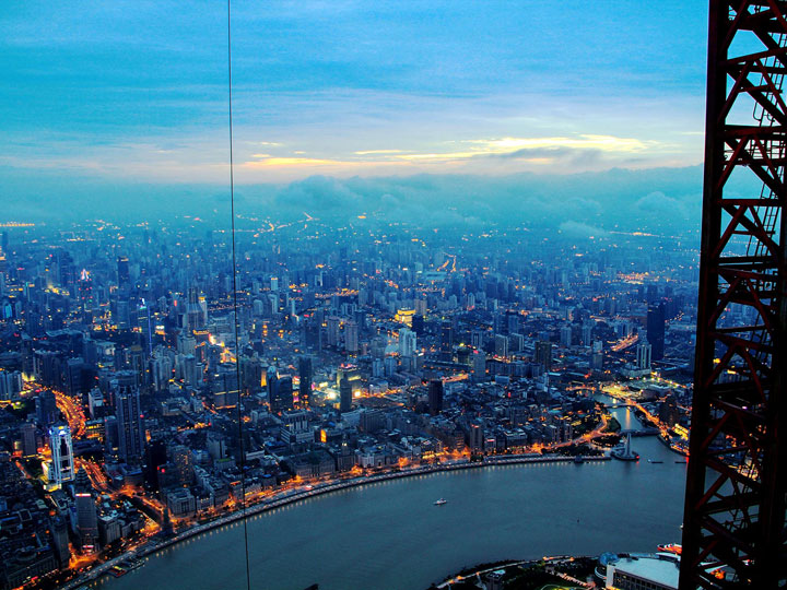 The Beauty Of Shanghai Revealed From A Crane At Height Of 600 Meters-3