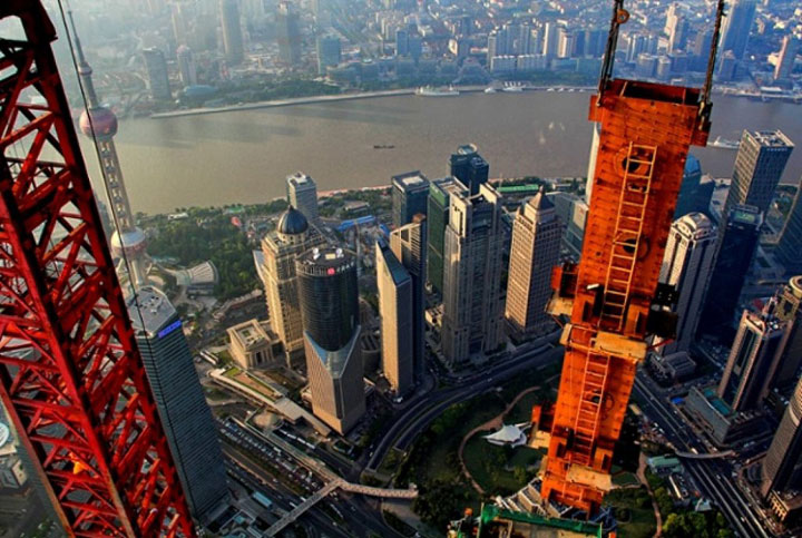 The Beauty Of Shanghai Revealed From A Crane At Height Of 600 Meters-6