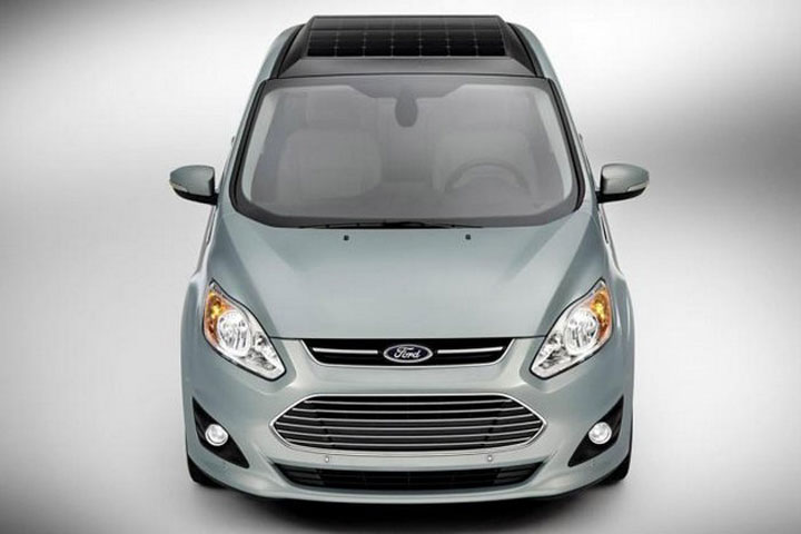 C-Max Energi Solar: Ford's New Electric Hybrid Concept Car Recharged By Solar Panels-