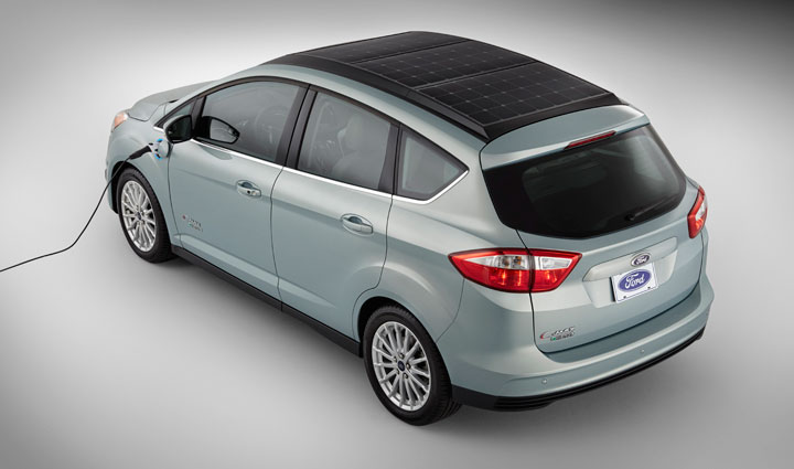 C-Max Energi Solar: Ford's New Electric Hybrid Concept Car Recharged By Solar Panels-1