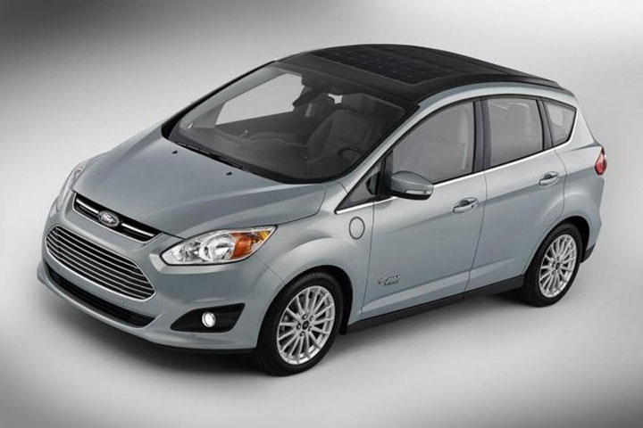 C-Max Energi Solar: Ford's New Electric Hybrid Concept Car Recharged By Solar Panels-2