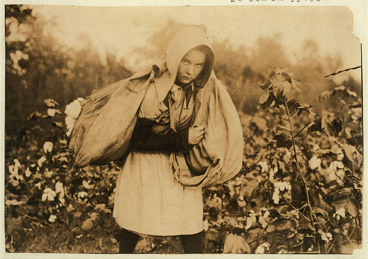 Cotton picker Potawotamie County, Oklahoma-20 Photographs Showing The Child Labor Conditions In Early Twentieth Century-16